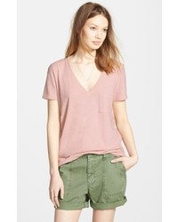 Whisper cotton v neck pocket tee medium 6752650