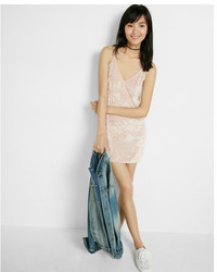 Express Velvet Tie Back Slip Dress