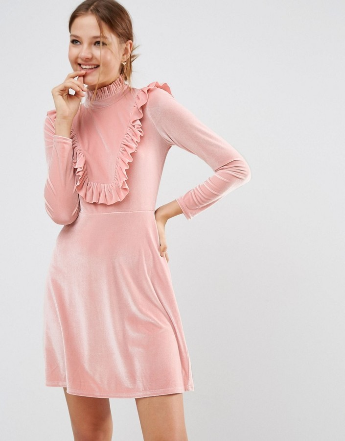 Asos Asos Cutie Pie Velvet Dress Where To Buy How To Wear