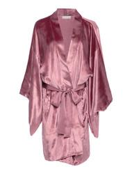 Fleur Du Mal Silk Trimmed Velvet Robe