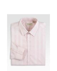 Burberry London Treyforth Striped Dress Shirt Ice Pink
