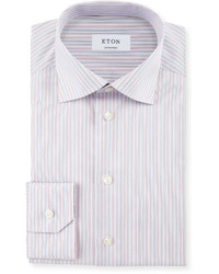 Eton Contemporary Fit Striped Dress Shirt Corallight Blue