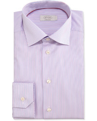 Eton Contemporary Fit Striped Dress Shirt Pinkblue