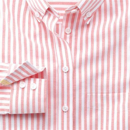 9ae31b9f ... Pink Vertical Striped Dress Shirts Charles Tyrwhitt Coral Wide Stripe  Oxford Button Down Shirt ...