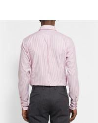 Drakes Drakes Red Striped Cotton Shirt