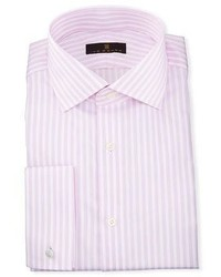 Ike Behar Gold Label Dobby Stripe Cotton Dress Shirt