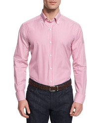 Goodmans Goodmans Vertical Stripe Woven Dress Shirt Pink
