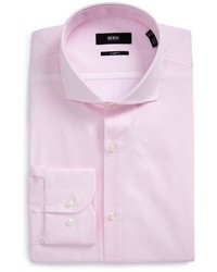 BOSS Jerrin Slim Fit Stripe Dress Shirt