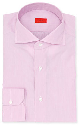 Isaia Micro Stripe Cotton Dress Shirt