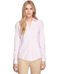 Brooks Brothers Non Iron Fitted Stripe Dress Shirt