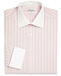 Charvet Regular Fit Striped Cotton Dress Shirt