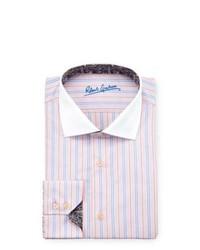 Robert Graham Coolidge Striped Dress Shirt Pink