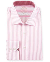English Laundry Striped Cotton Dress Shirt Pinkwhite
