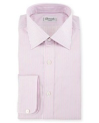 Charvet Striped Dress Shirt Pink