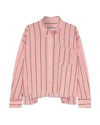 Isabel Marant Etoile Ycao Oversized Striped Cotton Blend Shirt
