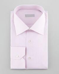 Stefano Ricci 3 Row Striped Dress Shirt Pink