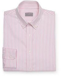 Club Monaco 120s Slim Stripe Dress Shirt