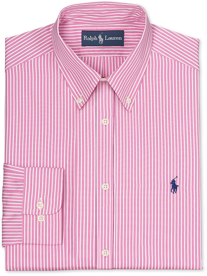 9887577ec96 ... Polo Ralph Lauren Dress Shirt Pink Stripe Long Sleeved Shirt