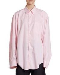 Vetements X Comme Des Garcons Oversize 80s Striped Button Down Shirt