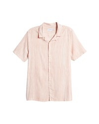 Topman Painted Stripe Short Sleeve Button Up Shirt