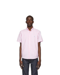 Polo Ralph Lauren Pink And White Classic Stripe Shirt