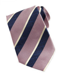 Pink Vertical Striped Tie
