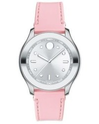Movado Bold Stainless Steel Silicone Strap Sport Watch