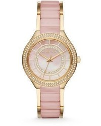 Michael Kors Michl Kors Kerry Blush Goldtone Stainless Steel Watch