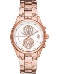 MICHAEL Michael Kors Michl Michl Kors 40mm Briar Oversized Pav Crystal Chronograph Watch
