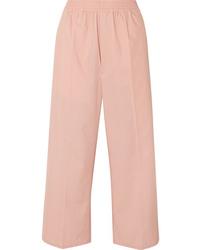 MM6 MAISON MARGIELA Cropped Cotton Blend Wide Leg Pants