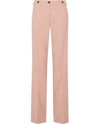 Grain de poudre stretch wool wide leg pants blush medium 3947364