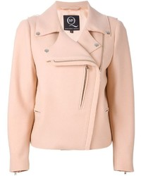 Pink Wool Biker Jacket