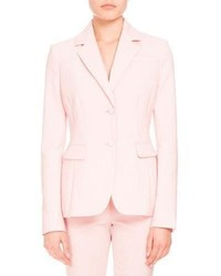 Altuzarra Fenice Two Button Blazer Shell Pink
