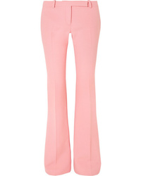Alexander McQueen Wool Blend Crepe Bootcut Pants