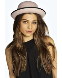 Boohoo bella felt bowler hat medium 172297