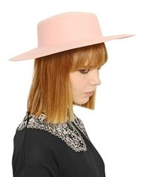 Rabbit Fur Felt Wide Brim Hat