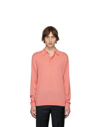 Paul Smith Pink Merino Wool Gentle Polo