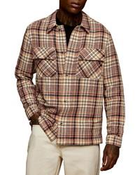 Pink Wool Shirt Jacket