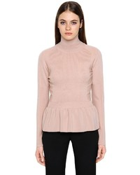 Emporio Armani Wool Sweater W Ruffled Hem