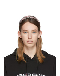 MSGM Pink Checked Headband