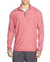 Pink Zip Neck Sweater