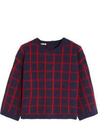 Plaid crew neck sweater original 1332039