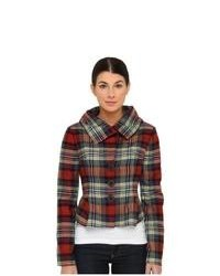 Plaid pea coat original 1442199