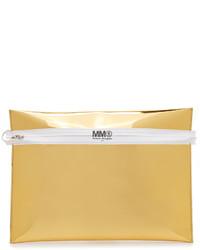 Pochette en cuir dorée Maison Margiela