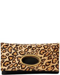 Pochette en daim imprimée léopard brune claire Sam Edelman