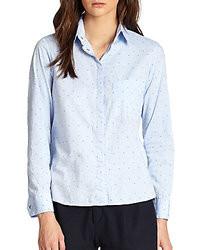 Polka dot button down blouse original 4300541