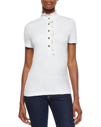 Polo blanc Tory Burch