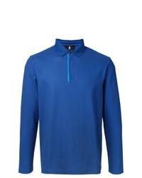 Polo de manga larga azul de Kent & Curwen