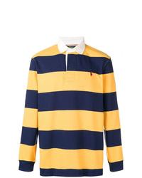 Polo de manga larga de rayas horizontales en multicolor de Polo Ralph Lauren