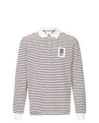 Polo de manga larga de rayas horizontales en negro y blanco de Kent & Curwen